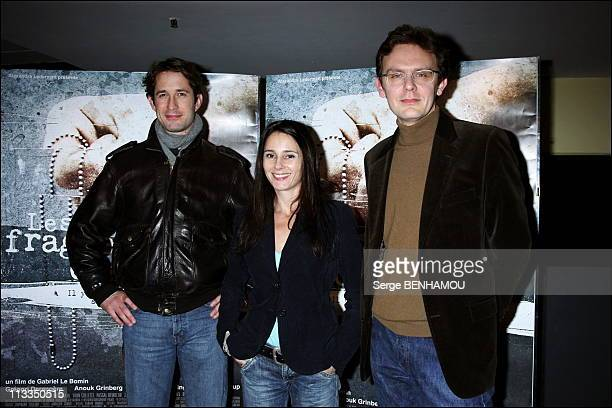 'Les Fragments D Antonin' Premiere On November 06Th 2006 In Paris France Here Gregori Derangere Anouk Grinberg Gabriel Le Bomin