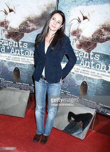 'Les Fragments D Antonin' Premiere On November 06Th 2006 In Paris France Here Anouk Grinberg