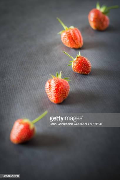 Les fraises de notre jardin