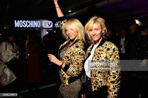 Les Garcons attend MOSCHINO [tv] HM Launch Party at Le Dernier Etage on November 6 2018 in Paris France