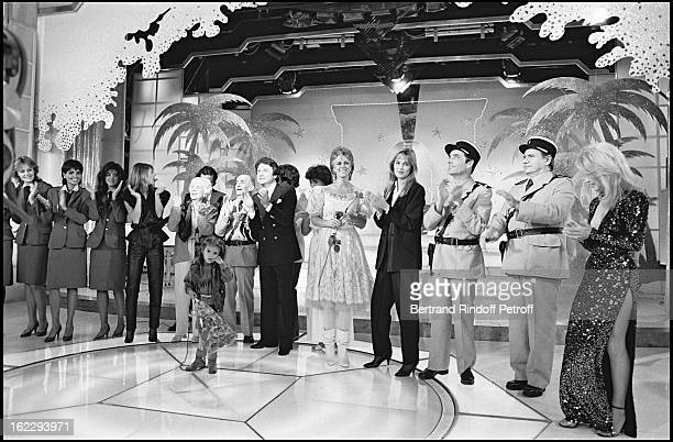 'Les Gendarmettes' Sheila Julio Iglesias Denise Grey Louis de Funes dressed up as a gendarme Michel Drucker Linda De Suza Michel Galabru and Pia...