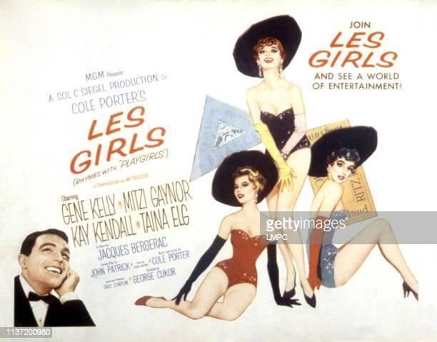 Les Girls poster Gene Kelly Mitzi Gaynor Kay Kendall Taina Elg 1957