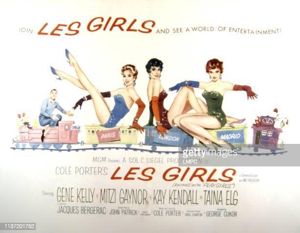 Les Girls, poster, Gene Kelly, Mitzi Gaynor, Kay Kendall, Taina Elg, 1957.