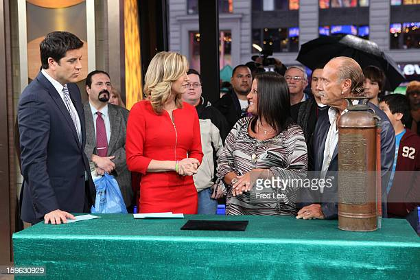 """Les Gold and Ashley Broad are guests on """"Good Morning America,"""" 1/16/13, airing on the Walt Disney Television via Getty Images Television Network...."""