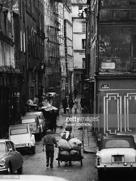 Les Grands Degres Street In Paris France Fifties
