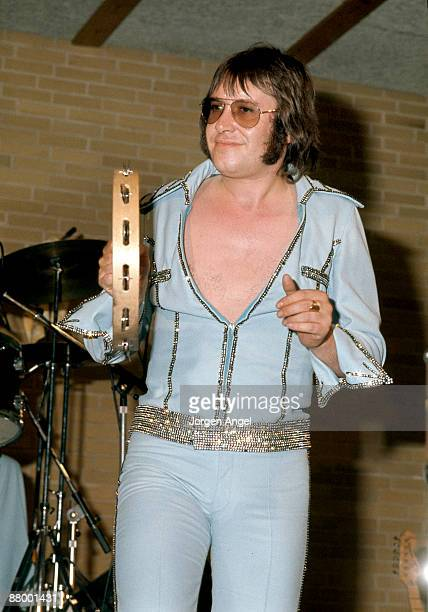 Les Gray from Mud performs on stage in Copenhagen Denmark in July 1974