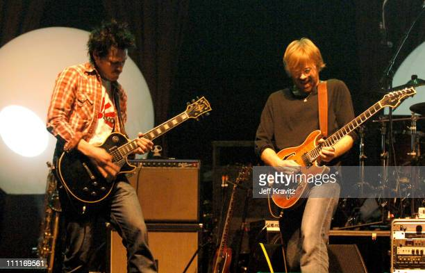 Les Hall and Trey Anastasio during Trey Anastasio Closing Night of Concert Tour at the Wiltern in Los Angeles December 8 2005 at Wiltern LG Theater...