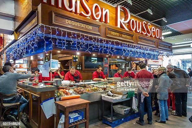 Les Halles food court Lyon, France
