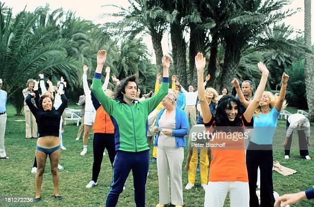 Les Humphries Dunja Rajter HotelGäste Urlaub Gran Canaria/Spanien Sänger Sängerin Hotel Training FitnessTraining Kanarische Inseln