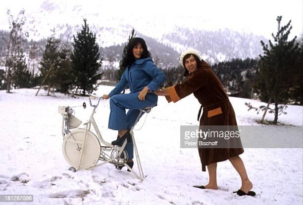 Les Humphries Dunja Rajter Winterurlaub St Moritz/Schweiz Sänger Sängerin Alpen FitnessTraining Urlaub
