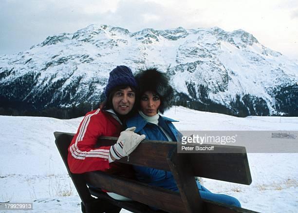 Les Humphries mit ExEhefrau Dunja RajterSt Moritz Winterurlaub