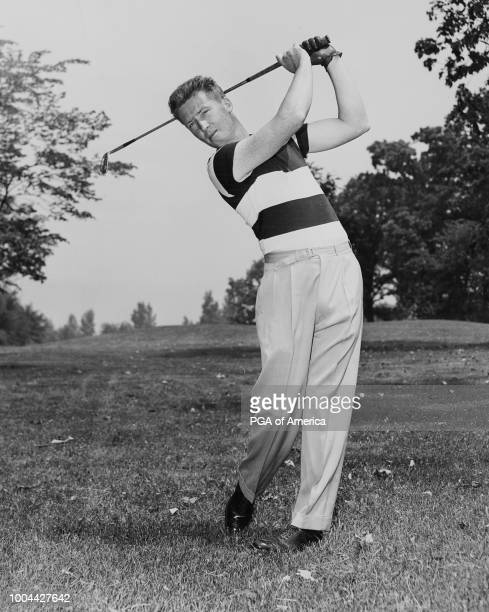 Les Kennedy hits a tee shot