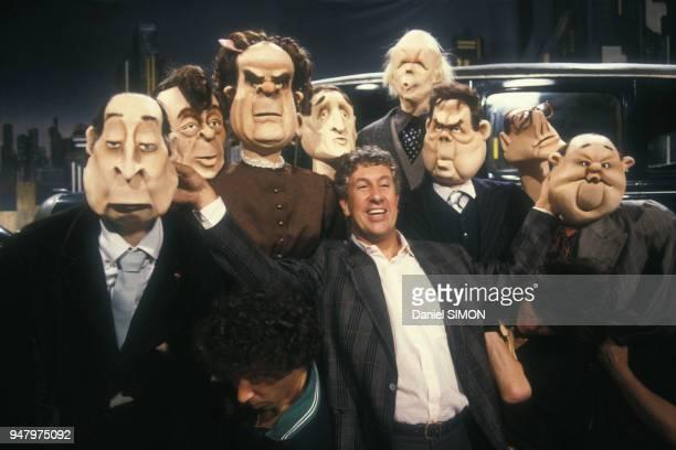Les marionnettes politiques de l'émission de divertissement 'Collaricocoshow' de Stéphane Collaro le 11 septembre 1987 à Paris France