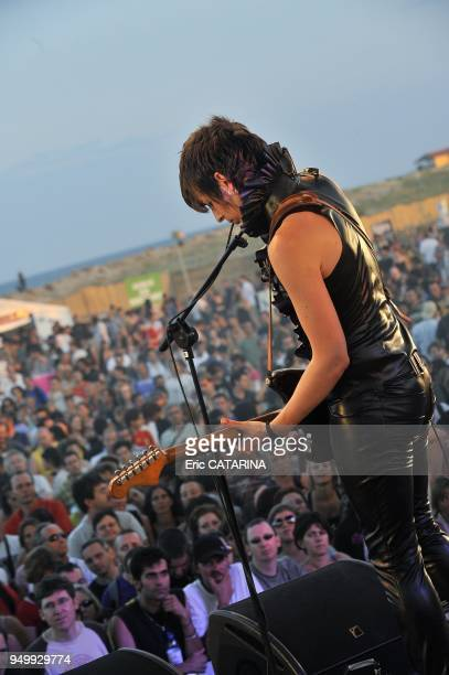 Les Mediterraneennes de Leucate Music Festival French band Mademoiselle K performing Live