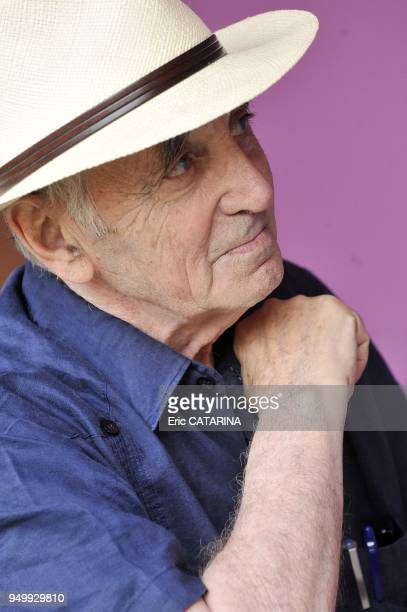 Les Mediterraneennes de Leucate Music Festival Portraits of French singer Charles Aznavour