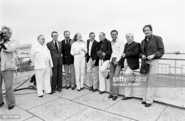Les membres du jury du Festiavl de Cannes le 16 mai 1978 Georges Wakhevitch Harry Saltzman Andrei Mikhalkov Kontchalovski Claude Goretta Michel...