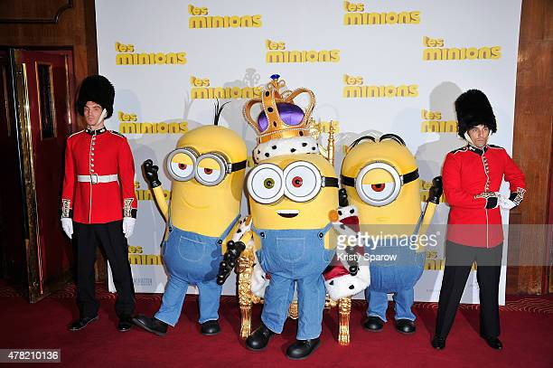 Les Minions attend the 'Les Minions' Paris Premiere at Le Grand Rex on June 23 2015 in Paris France