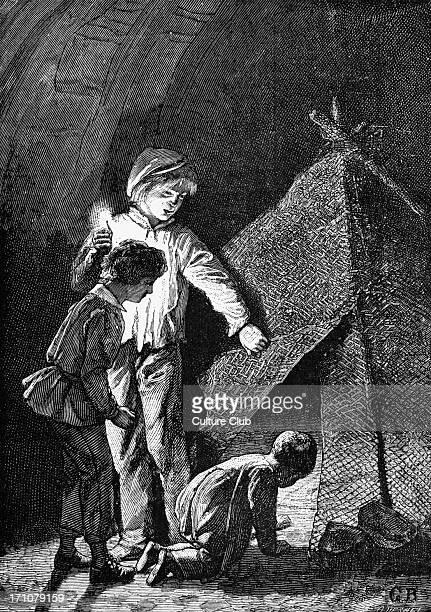 Les Miserables Les Miserables by Victor Hugo First published 1862 Original illustration by Emile Bayard Caption reads Little Gavroche French poet...