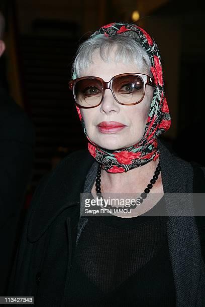 'Les Molieres' Press Conference At The 'Theatre De Paris' In Paris France On March 30 2009 Marie Laforet