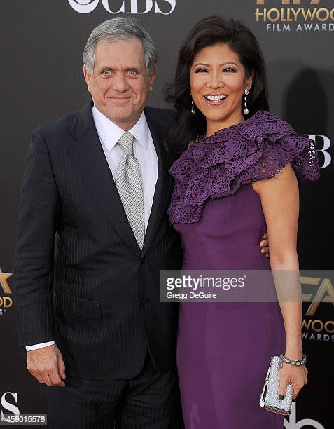 Les Moonves and Julie Chen arrive at the 18th Annual Hollywood Film Awards at The Palladium on November 14 2014 in Hollywood California