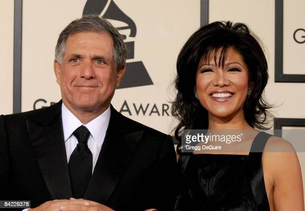 Les Moonves and Julie Chen arrives to the 50th Annual GRAMMY Awards at the Staples Center on February 10 2008 in Los Angeles California