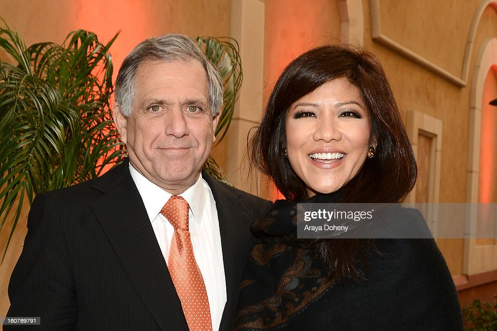 Les Moonves and Julie Chen attend the dedication of the Sumner M. Redstone Production Building at USC on February 5, 2013 in Los Angeles, California.