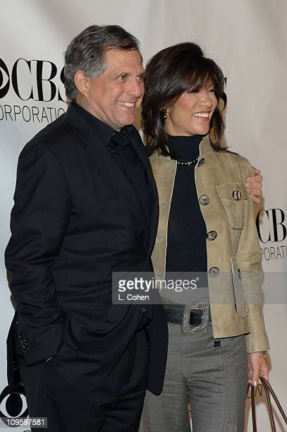 Les Moonves and Julie Chen during CBS/Paramount/UPN/Showtime/King World 2006 TCA Winter Press Tour Party Red Carpet at The Wind Tunnel in Pasadena...