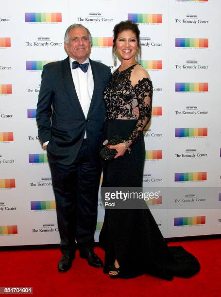 Les Moonves Chairman of the Board President and Chief Executive Officer of CBS Corporation and Julie Chen arrive for the formal Artist's Dinner...
