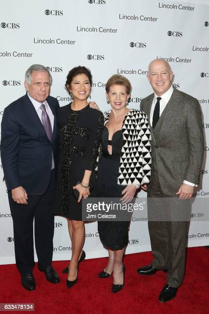 Les Moonves Julie Chen Adrienne Arsht and Bryan Lourd attend the 2017 American Songbook Gala at Alice Tully Hall on February 1 2017 in New York City