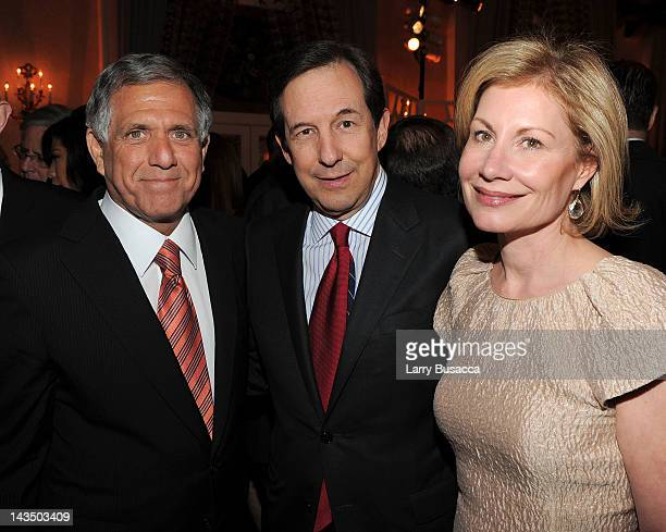 Les Moonves of CBS Chris Wallace of Fox News and Lorraine Smothers attend the PEOPLE/TIME Party on the eve of the White House Correspondents' Dinner...