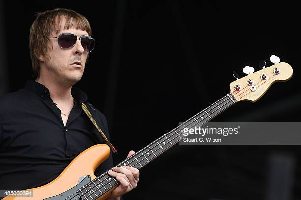 Les Pattinson from Echo The Bunnymen performs on Day 2 of the V Festival at Hylands Park on August 23 2015 in Chelmsford England