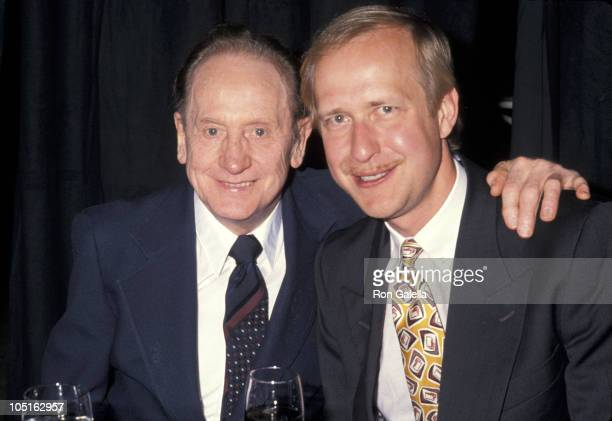 Les Paul and Henry Iuskiewicz during 7th Annual Silver Clef Awards Dinner at Roseland Ballroom in New York City NY United States