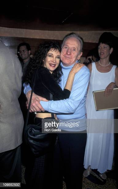 Les Paul and Jaid Barrymore during Les Paul 81st Birthday Party at Iridium Restaurant Jazz Club in New York City NY United States