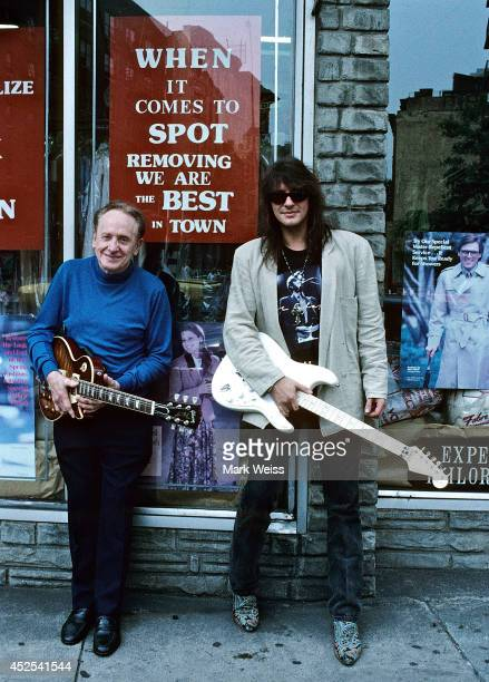 Les Paul and Richie Sambora at Fat Tuesday's circa 1993 in New York City