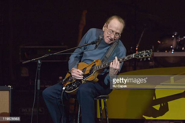Les Paul during Les Paul 90th Birthday Salute at Carnegie Hall in New York City New York United States