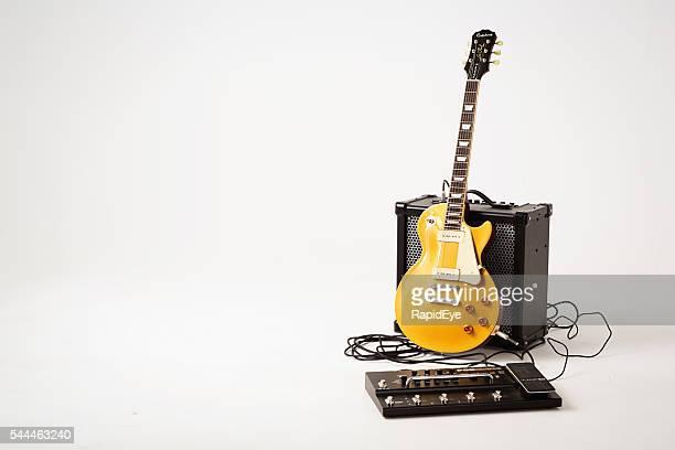 '56 Les Paul guitar, Roland Cube 80GX amp, multi-effects unit