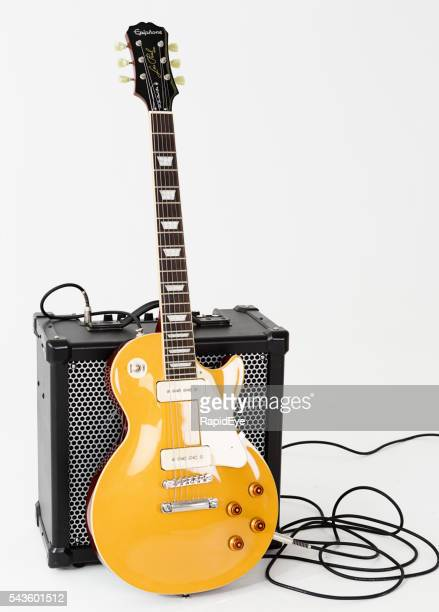 '56 Les Paul Pro guitar with Roland Cube X amplifier