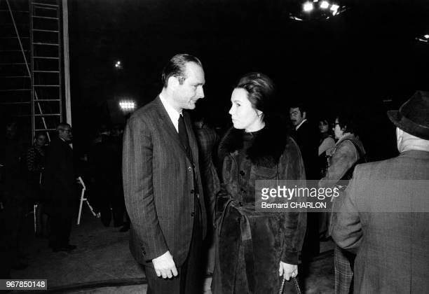 Les politiciens français Jacques Chirac et MarieFrance Garaud le 18 novembre 1973 France