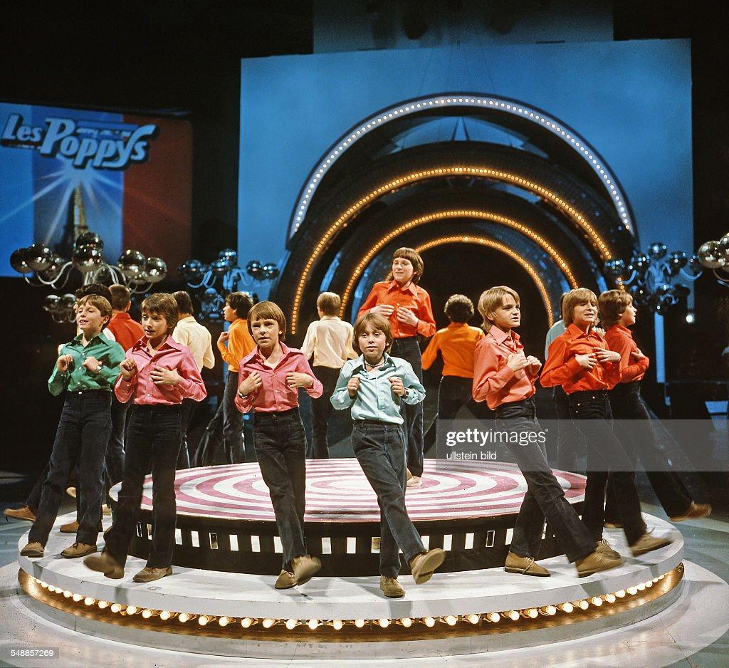 Les Poppys - Boygroup, France - at the East German tv \'Ein Kessel ...