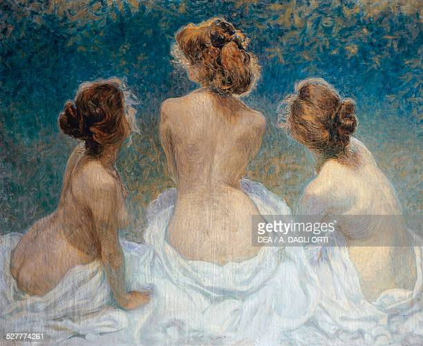 Les Printemps de la vie painting by Kienerk George oil on canvas 125x154 cm Italy 20th century