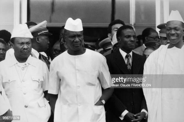 Les Présidents Tolbert du Liberia Touré de Guinée Kountché du Niger et Traoré du Mali assistent au Sommet de l'Organisation de l'Unité Africaine en...