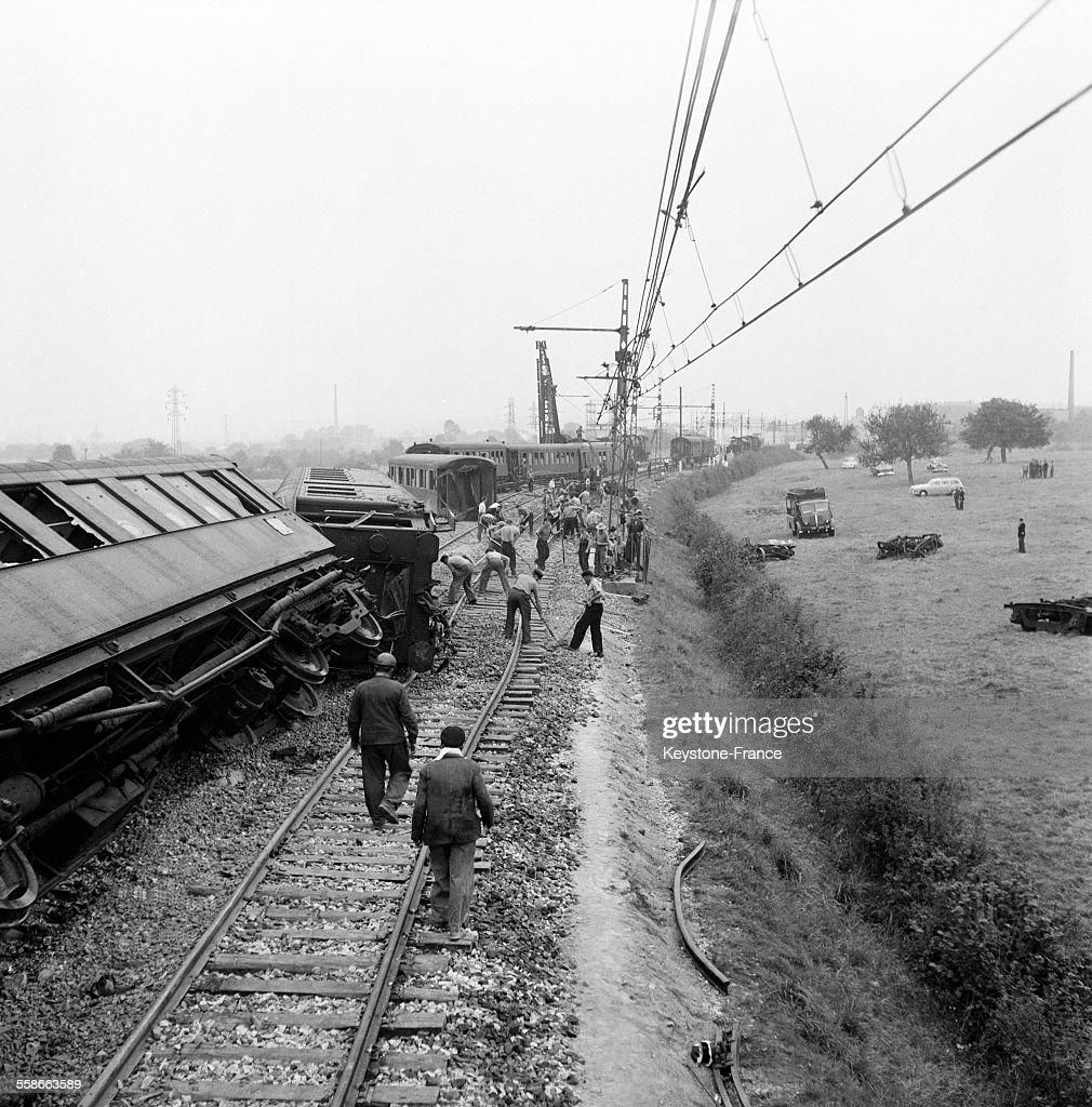 Catastrophe ferroviaire au Theil : ニュース写真