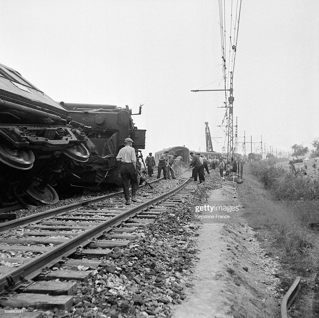 Catastrophe ferroviaire au Theil : News Photo