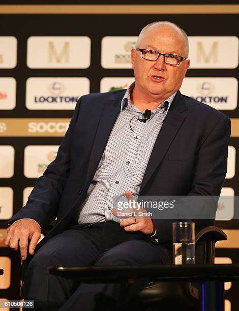 Les Reed Southampton Executive Director talks during day 1 of the Soccerex Global Convention 2016 at Manchester Central Convention Complex on...