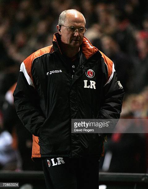 Les Reed the Charlton Athletic Manager looks dejected as his side go in at half time losing 10 during the Carling Cup Quarter Final match between...