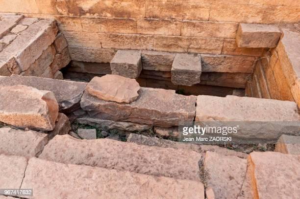 Les ruines du Grand Temple, un temple sabéen, le plus ancien monument d'Ethiopie remontant à la période pré-axoumite, dont la construction est située...