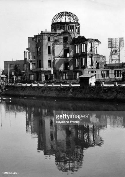 Les ruines du palais dexposition industrielle du département de Hiroshima appelé Dôme de Genbaku où la bombe atomique a explosée à Hiroshima Japon