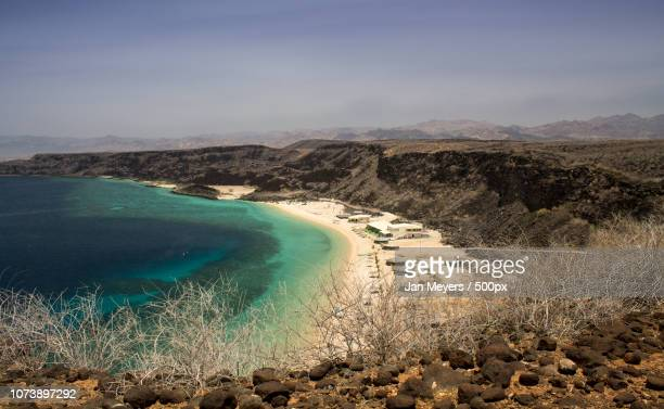 les sables blancs - golfe de tadjoura - djibouti 2015 - djibouti stockfoto's en -beelden