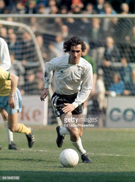 Les Strong in action for Fulham during their match against West Bromwich Albion at Craven Cottage in London 6th April 1974