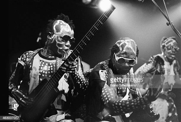 Les Tetes Brulees perform at the Melkweg on 27th July 1990 in Amsterdam, the Netherlands.